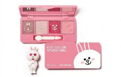 Тени для век Missha line friends edition Eye color studio Mini Зайчик